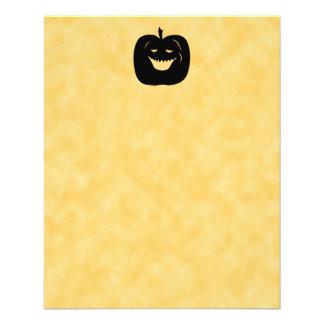 Halloween Pumpkin Silhouette Black Custom Flyer