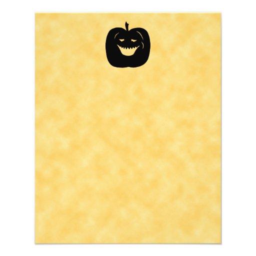 Halloween Pumpkin Silhouette. Black. Custom Flyer