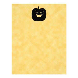 Halloween Pumpkin Silhouette Black Flyer