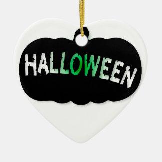 Halloween Pumpkin Silhouette Ceramic Heart Decoration