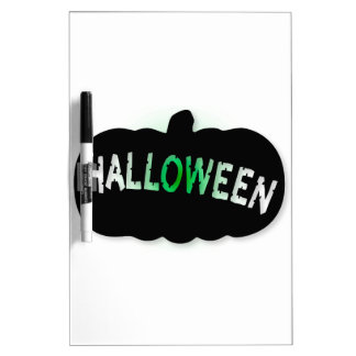 Halloween Pumpkin Silhouette Dry Erase Whiteboards