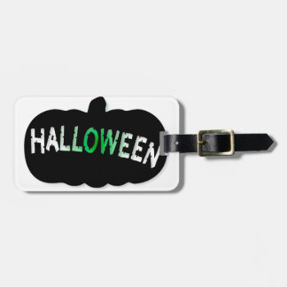Halloween Pumpkin Silhouette Luggage Tag