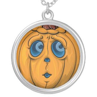 Halloween Pumpkin Silver Plated Necklace