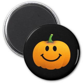 Halloween Pumpkin Smiley face 6 Cm Round Magnet