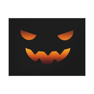 Halloween pumpkin smiley face gallery wrap canvas