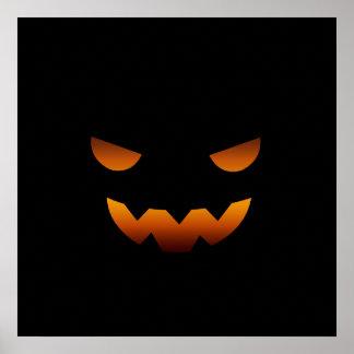 Halloween pumpkin smiley face posters