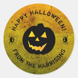 Halloween Pumpkin Spiders Sticker (sheet of 20)