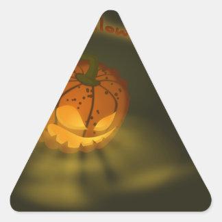Halloween Pumpkin Spooky Atmosphere Triangle Sticker
