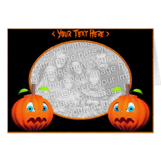 Halloween Pumpkin Stares (photo frame) Card