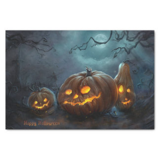 Halloween Pumpkin Tissue Paper Sheets