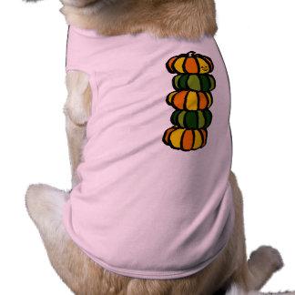 Halloween Pumpkin Totem Pole Sleeveless Dog Shirt