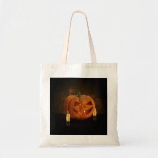 Halloween Pumpkin with Candles - Budget Tote