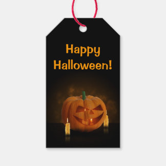 Halloween Pumpkin with Candles - Gift Tag