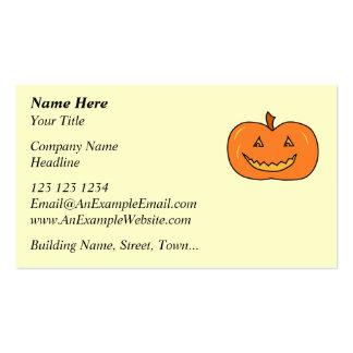Halloween Pumpkin with Grin. Business Card