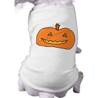Halloween Pumpkin with Grin. Doggie Tee
