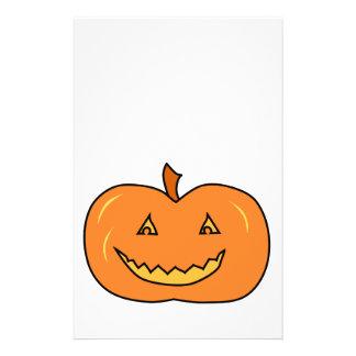 Halloween Pumpkin with Grin Flyer Design