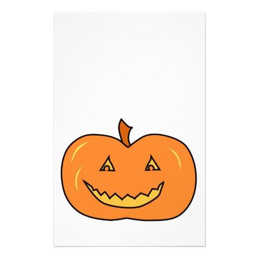 Halloween Pumpkin with Grin. Flyer Design