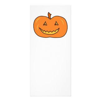Halloween Pumpkin with Grin. Custom Rack Card