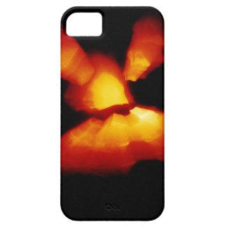 Halloween pumpkin zoom burst iPhone 5 cases