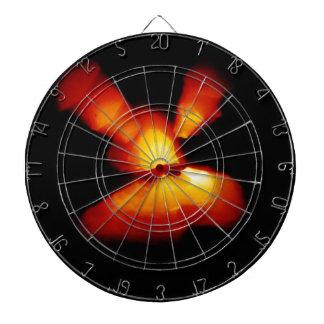 Halloween pumpkin zoom burst dartboard