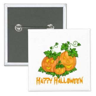 Halloween Pumpkins 15 Cm Square Badge