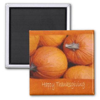 Halloween  Pumpkins 3 - Happy Thanksgiving Square Magnet