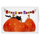 Halloween Pumpkins/Black Cat Card