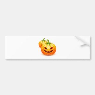 Halloween pumpkins bumper sticker