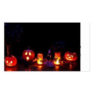 Halloween pumpkins business card template