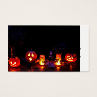 Halloween pumpkins business card