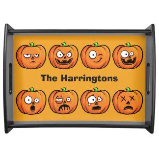 Halloween Pumpkins custom name serving trays