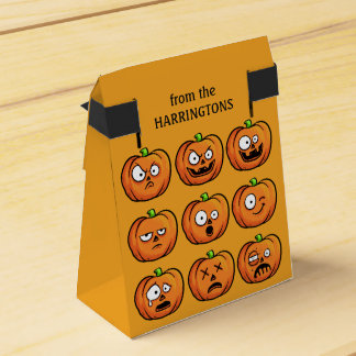 Halloween Pumpkins custom text favor box