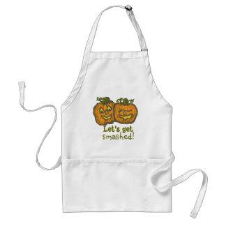 Halloween Pumpkins get smashed! Standard Apron