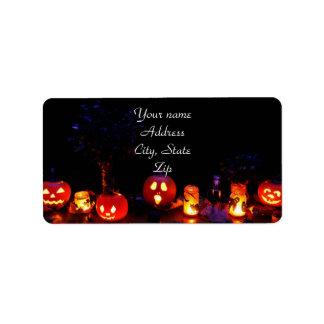 Halloween pumpkins label