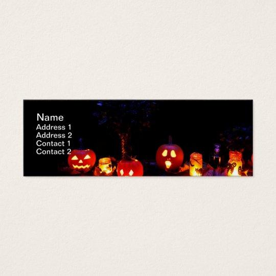 Halloween pumpkins mini business card
