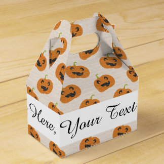 Halloween Pumpkins Pattern Favour Box