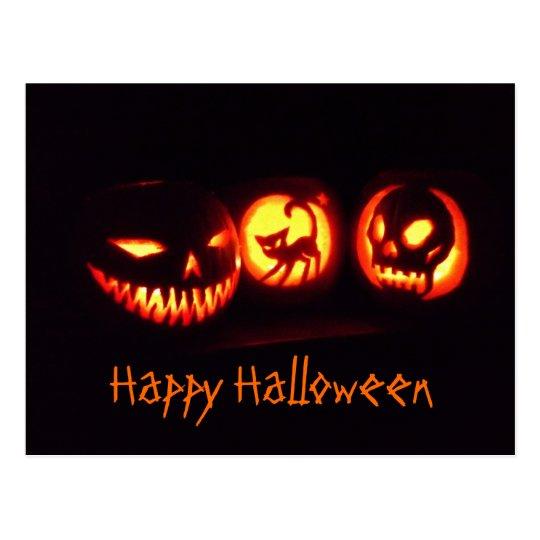 Halloween Pumpkins Postcard