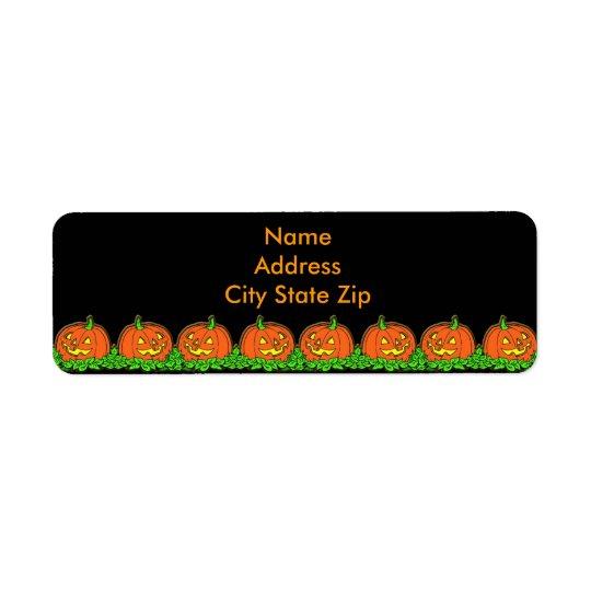 Halloween Pumpkins Return Address Label