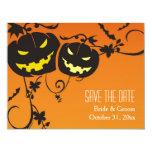 Halloween Pumpkins Save The Date Cards 11 Cm X 14 Cm Invitation Card