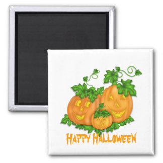 Halloween Pumpkins Square Magnet