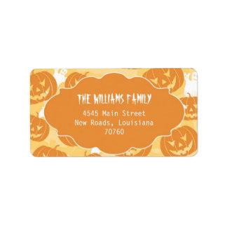 Halloween Pumpkins (Today's Best Award) Address Label