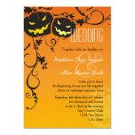 Halloween Pumpkins Wedding Invitation