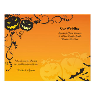 Halloween Pumpkins Wedding Programs Flyer