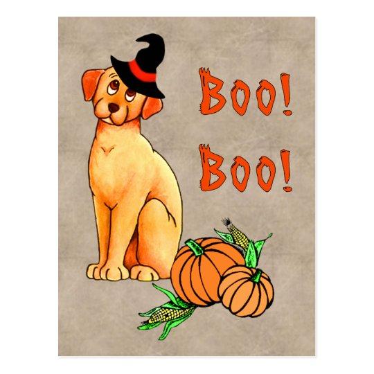 Halloween Puppy Dog Postcard