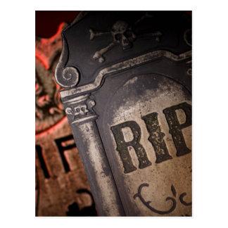 Halloween R.I.P. Graveyard Tombstone Postcard