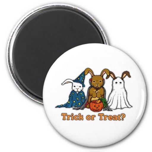 Halloween Rabbits Trick or Treating Fridge Magnets