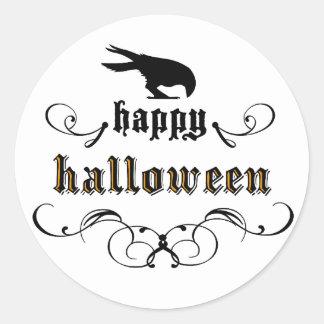 Halloween - Raven Classic Round Sticker