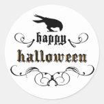 Halloween - Raven Round Sticker