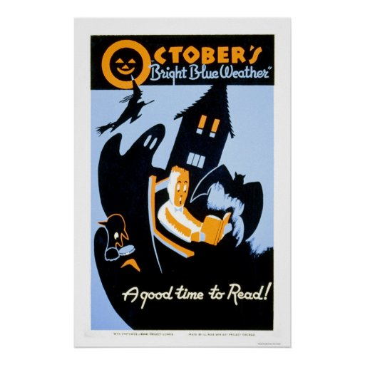 Halloween Reading 1937 WPA Poster