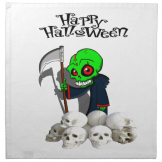 Halloween reaping skulls napkin